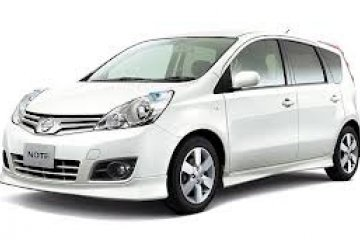 Nissan Note Automatic car for hire in Paphos Cyprus