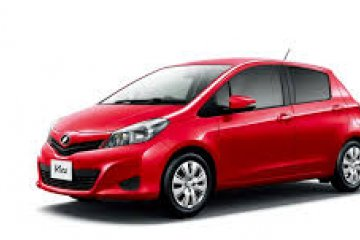Toyota Yaris Automatic car for hire in Paphos Cyprus